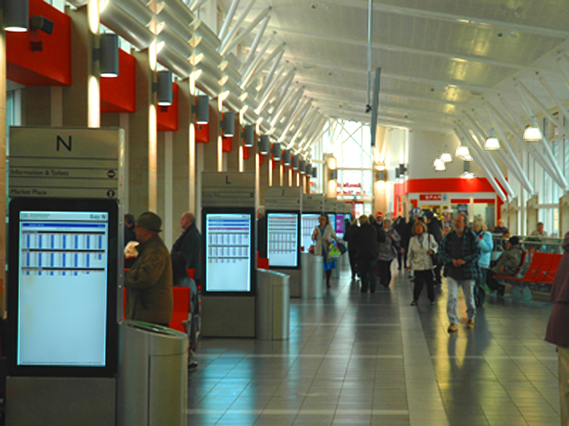 digital signage for Transport Sector