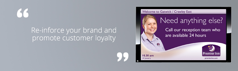 reinforce your brand and promote customer loyalty