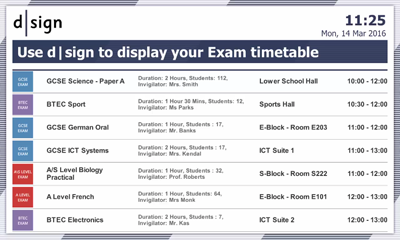 Education Exam Timetable